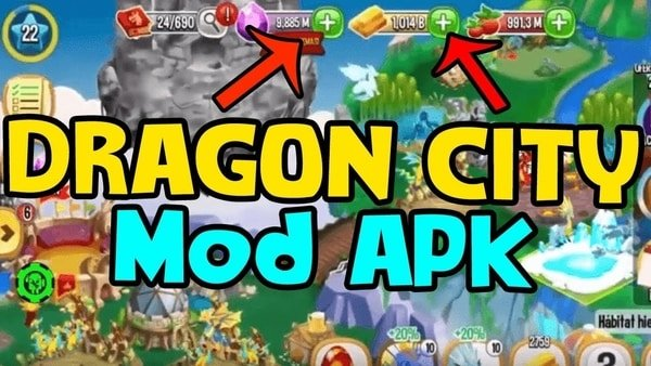 APK Dragon City mod